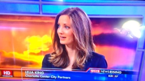 Lelia on morning news WCCB 2014